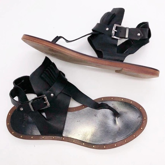 Zara Basic Leather Gladiator Sandals